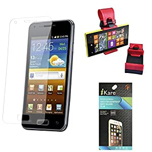 iKare Pack of 10 Matte Screen Protector for Micromax Canvas Selfie Lens Q345 + Car Steering Holder