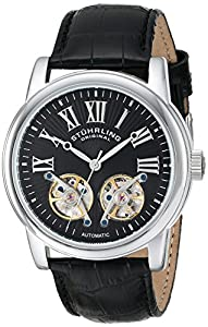 Stuhrling Original Men's 661.01 Legacy Automatic Skeleton Double Barrel Black Watch