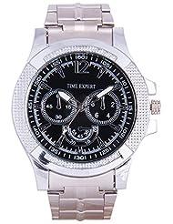 Time Expert Analogue Black Dial Men's Watch - TE100323