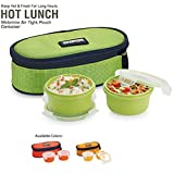 Smart Lock SML-301 Airtight 2 Pc 400 Ml Each Lock Melamine Lunch / Meal/Tiffin Box With Insulated Bag