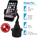 Macally MCUPMP Adjustable Automobile Cup Holder for iPhone, iPod, Smartphones, MP3 and GPS - Black