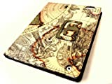 Premium Quality iPad 3 Classic World Map Pattern PU Leather Case for Apple iPad 3