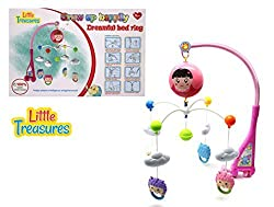 Little Treasures Fun Character Baby Mobile With Music, Battery Or A/C Operated Ages 0+