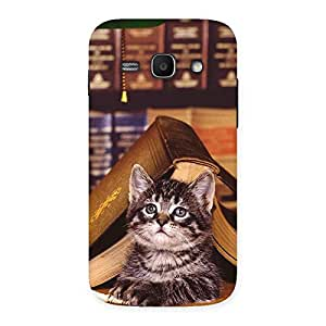 Impressive Cat Book Back Case Cover for Galaxy Ace 3