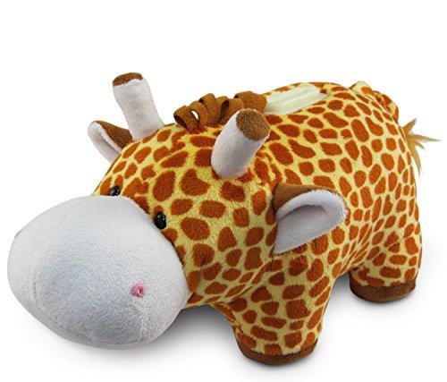 Puzzled Plush Giraffe Huggie Bank