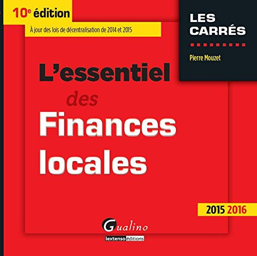 L'essentiel des finances locales 2015-2016