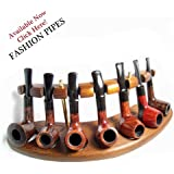 New Wooden Pipes Stand-showcase, Rack Holder for 7 Tobacco Smoking Pipes . Handmade. The Best Price Offer In Fashion Pipes!