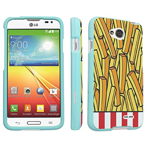 DuroCase LG Optimus L70 / LG Optimus Exceed 2 Hard Case Mint - (French Fries) (Lg Optimus L70 Case French Fries compare prices)