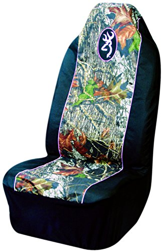 Browning Pink Buckmark Camo Pullover Bucket Seat Cover (Mossy Oak Break-Up Camo, Durable Polyester Fabric, Sold Individually) (Funny Car Seat Covers compare prices)