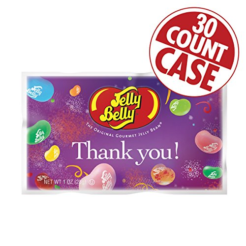 Thank You Assorted Flavors Jelly Beans - 1 oz. Bag - 30-Count Case (Jelly Belly Thank You compare prices)