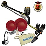 "Fisher Gold Bug Metal Detector W/5"" Coil, Gold Pan Kit, Headphones, Canvas Finds Apron & Treasure Trowel"