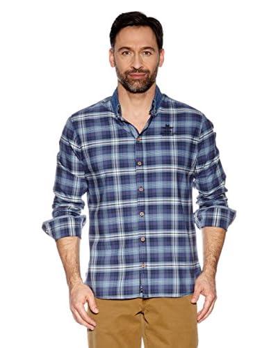 Nza New Zealand Auckland Camicia Uomo [Blu]