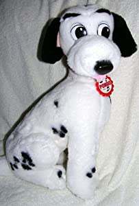 "1991 Disney 101 Dalmatians 15"" Plush Pongo Dog With Collar by Mattel"