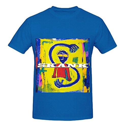 Skank Siderado Jazz Album Men Crew Neck Big Tall T Shirts Blue