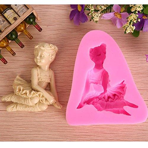 Bluelover-Ballet-3D-Fille-Fondant-chocolat-Savon-moule-en-silicone-Moule--sucre-Artisanat