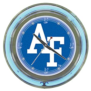 NCAA Air Force 14-Inch Diameter Neon Clock