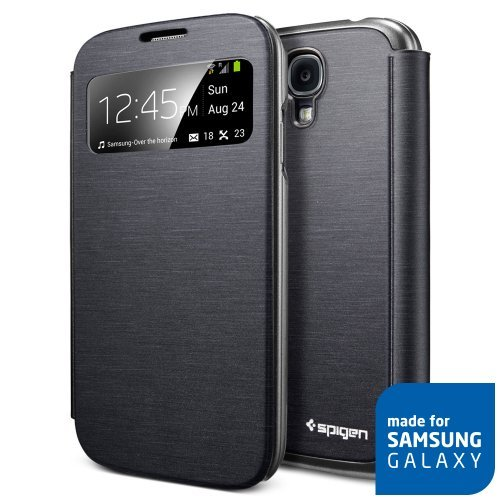 ** view 機能 ** ウルトラ・フリップ View Galaxy S4 ケース 国内正規品 (メタリック・ブラック)