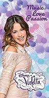 Serviette Sortie drap de bain plage Violetta Disney 75 cm x 150 cm 100 % Coton