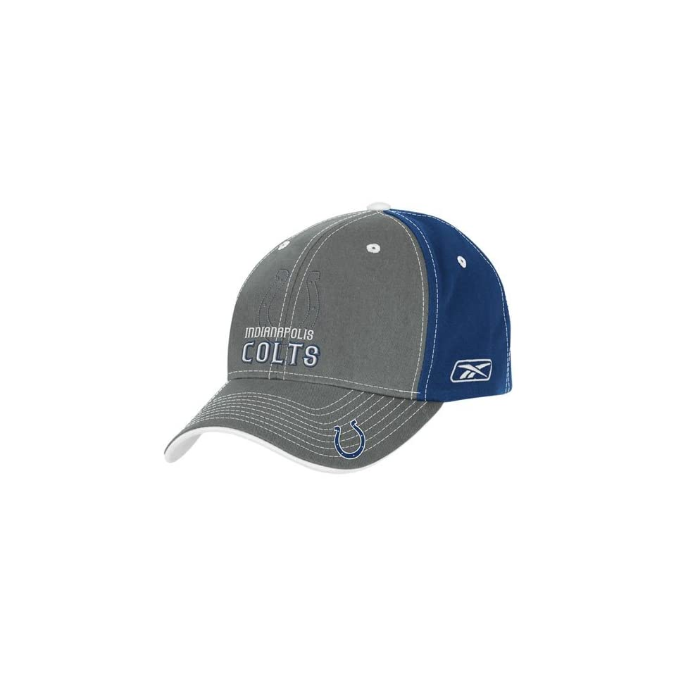 Reebok Indianapolis Colts Grey Shadow Logo Structured Hat