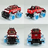 Shop New 1:16 RC Radio Control Monster Truck Off Road Car Toy Flashing Light Wheels Red by Greenland