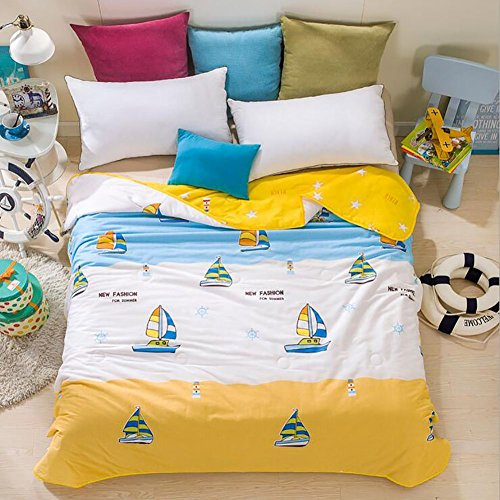 Great Features Of Home Comfortable 100% Cotton Comforter for Summer Air-Conditioning Quilt 1PC (60 ...
