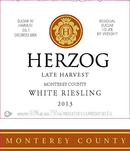 2013 Herzog Late Harvest Monterey County White Riesling 750 Ml