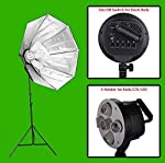 GizmoGrid Digital Still/Product Photography Video Continuous Softbox Lighting Light Kit with Stand, 5Holders/Sockets can use LED/CFL/Bulbs, for Chroma Key Effects, Video Blogging