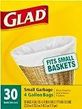 Glad Small Trash Bags, 4 Gallon, 30 ct