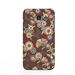 Koveru Designer Printed Protective Snap-On Durable Plastic Back Shell Case Cover for Samsung Galaxy J5 - Flower Art