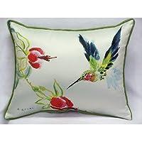 Betsy Drake Interiors Hummingbird Indoor/Outdoor Pillow