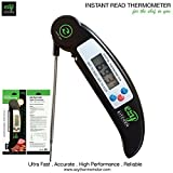 Ezy Kitchen Ultra Fast Instant Read Thermometer for All Meat, BBQ Food with Free Battery and Free Recipe! The No. 1 Choice Meat Thermometer or Digital Meat Thermometer or BBQ Thermometer! (With Lifetime Guarantee!)