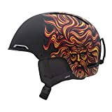 Giro Battle Snow Helmet (Matte Black Santa Cruz Sungod, Large)