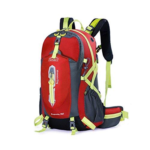 Outdoor sac à dos d'alpinisme / randonnée sac de Voyage multifonction-rouge 40L