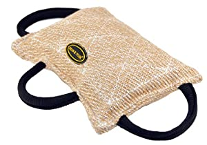 Dean and Tyler Bite Pillow with 3-Handles - Jute - Size: 13-Inch by 8.5-Inch