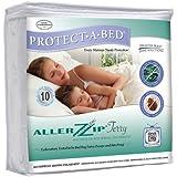 "AllerZip Waterproof Bed Bug Proof Zippered Bedding Encasement, Full Size (7""-12"" Deep)"