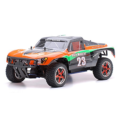 1/10 2.4Ghz Exceed RC Rally Monster Nitro Gas Powered RTR Off Road Rally Car 4WD Truck Carbon Orange (Rc Gas Powered Trucks compare prices)
