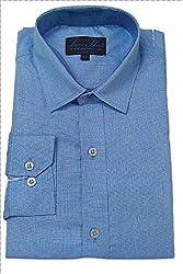 Line Shirt Men's Poly Cotton Formal Shirt(91202_Blue__40)
