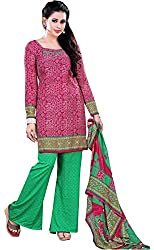 Swaman Women's Synthetic Dress Material(0729LAD00022,Pink)