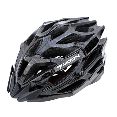 SUNVP Helmet Bicycle Ultralight Adult Road Bike Helmet Integrated MTB Cycling Helmets (Blck, L(22.83