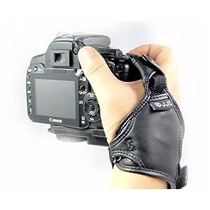 Courroie de Main cuir véritable pour boîtier Nikon reflex numériques D1, D2x, D3, D40, D40x, D50, D60, D70, D70s, D80, D90, D100, D200, D300, D300s, D700, D3000, D3100, D5000, D5100, D7000 - Similaire à Nikon AH-4
