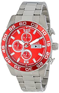 Invicta Men's 15153 Specialty Chronograph Stainless Steel Red Dial Watch