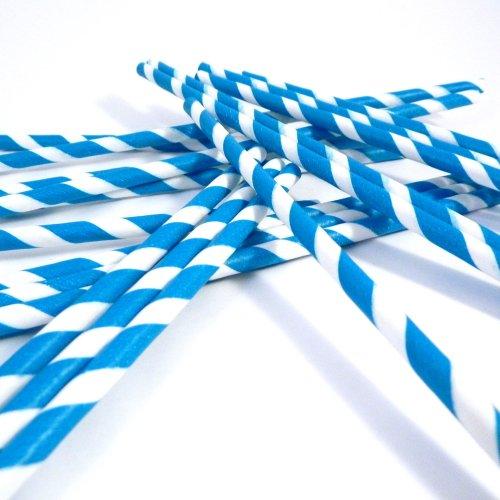 blue paper straws