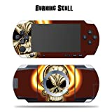 Protective Vinyl Skin Decal for SONY PSP - Burning Skull