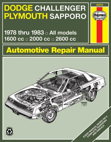 dodge-challenger-plymouth-sapporo-owners-workshop-manual-1978-thru-1983-all-models-1600cc-2000cc-260