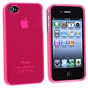 eForCity TPU Rubber Skin Case Compatible with Apple iPhone 4S AT&T/Verizon/Sprint - Retail Packaging - Pink