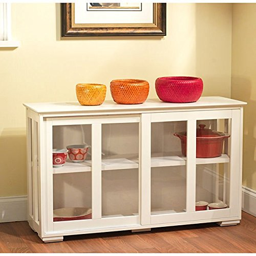 Transitional Glass Door Stackable Cabinet,Tempered Glass by Simple Living (Tempered Glass Cabinet Doors compare prices)