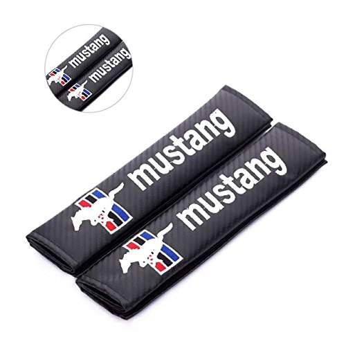 Amooca Seat Belt Cover Seat Belt Shoulder Pad Cushion for Ford mustang Embroidered (2 Pcs) (Ford Mustang Ii compare prices)