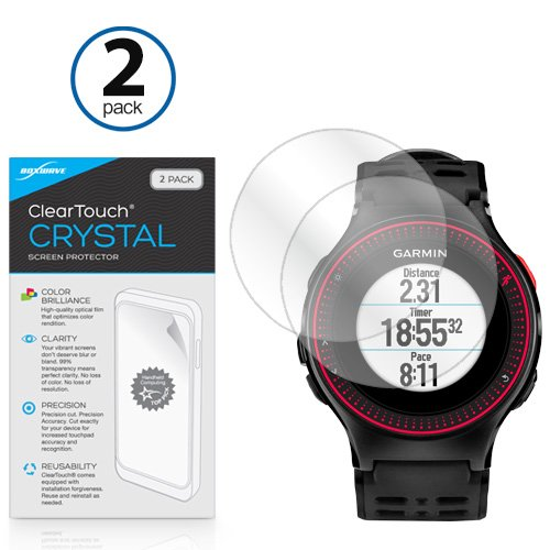 BoxWave Garmin Forerunner 225 ClearTouch Crystal (2-Pack) Screen Protector - Ultra Crystal Film Skin to Shield Against Scratches for Garmin Forerunner 225