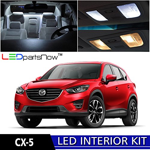 LEDpartsNow Mazda CX-5 CX5 LED Interior kit 2013-2016 Xenon White Premium LED (9 Pieces) + Pry Tool (Led Lights For Mazda compare prices)