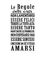 Ambiance-sticker Vinilo Decorativo Le Regole Della Casa
